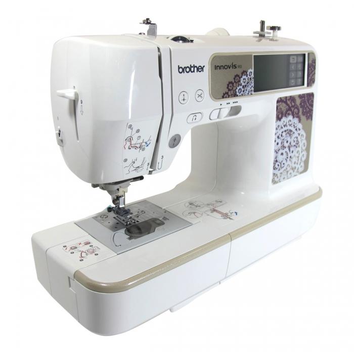 Brother 955 Maquina de coser y de bordar computerizada, 129 puntadas ...