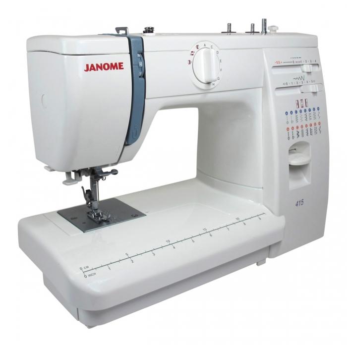 Janome 415 White, una máquina de coser muy creativa
