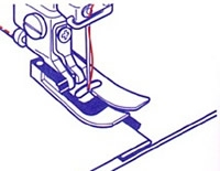 Pie prensatelas de costura de quilting