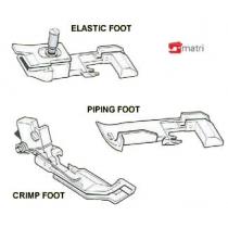 Set de pies prensatelas único de 3 piezas