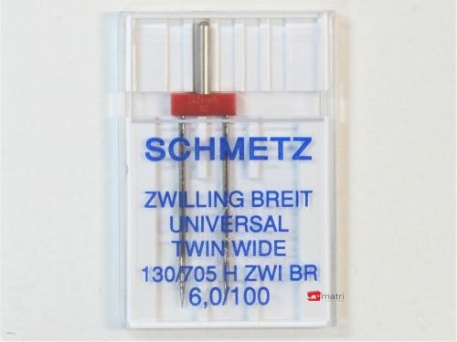 Schmetz Aguja-gemela 6 / 100